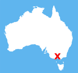 Small map of Australia showing location
